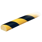 Knuffi Model C Corner bumper guard Black/Yellow 1 Meter